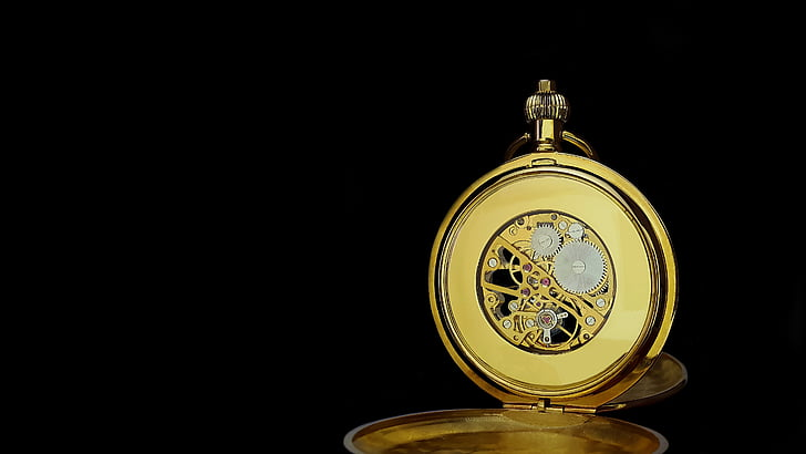 pocket watch, time, clock, time of, old, hours, clock face