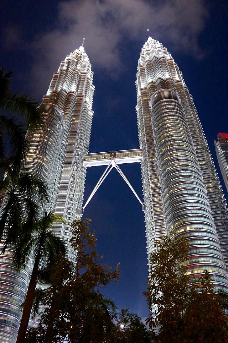 petronas, towers, malaysia, architecture, building, landmark, travel