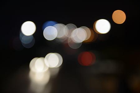 bokeh, night, light mens wool, nightlife, night view, night-time, illuminated