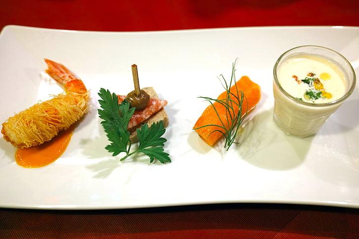 Restaurant, keuken, dieet, Frans, Franse keuken, voorgerecht, voedsel