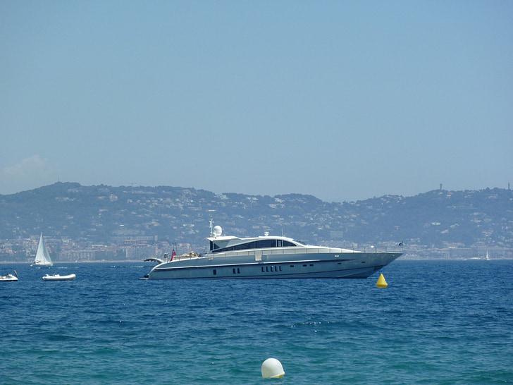 suedfrankrieich, theoulle sur mer, Yacht, havet, fartyg, lyxyacht, Frankrike