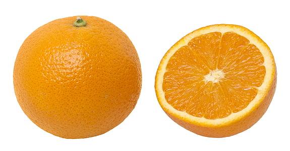 fruites, Sa, vitamines, menjar, dieta, taronja, conjunt