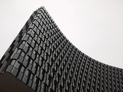 hoone, Graz, arhitektuur, fassaad, büroohoone, akna, kaasaegne