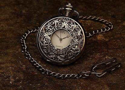 Pocket watch, Jewel, kett, kivi, aeg, kella, tund