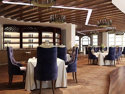 cafe, purple, retro, indoor, restaurant design