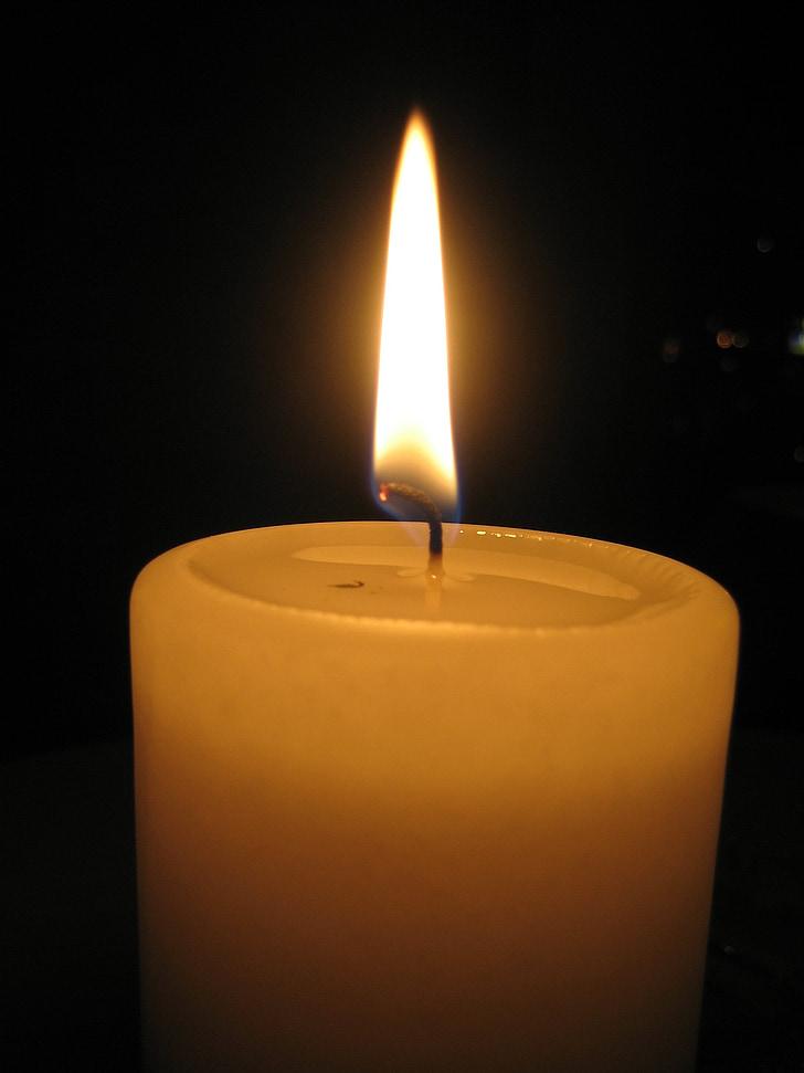espelma encesa, estat d'ànim, Espelma, llum de les espelmes, ambient, calor, llum
