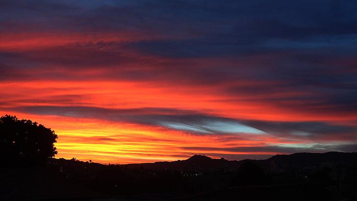 dawn, nature, rising sun