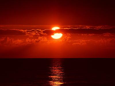 Sunset, Cloud, skyer, Sky, rød, cloudscape, dramatiske