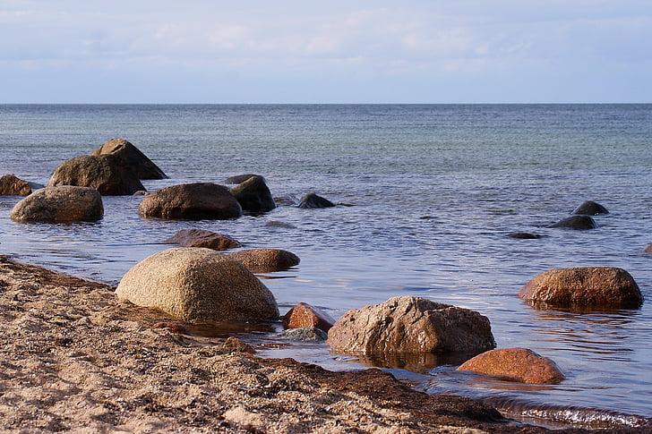 παραλία, abendstimmung, στη θάλασσα, ηλιοβασίλεμα, Ήλιος, νερό, Ωκεανός