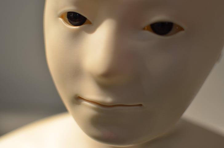 гуманоїд, робот, обличчя, штучний інтелект, імітування, людське обличчя