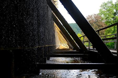 saltvann, bygge, arkitektur, ved å se, tre, se gjennom, natur