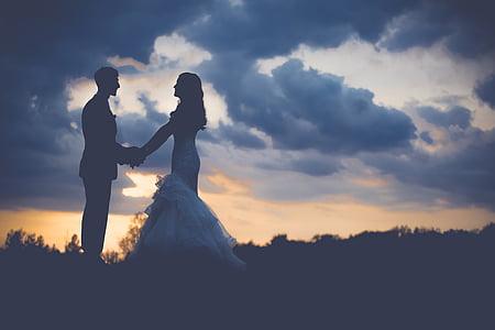 par, Dawn, Dusk, Kærlighed, mand, udendørs, folk
