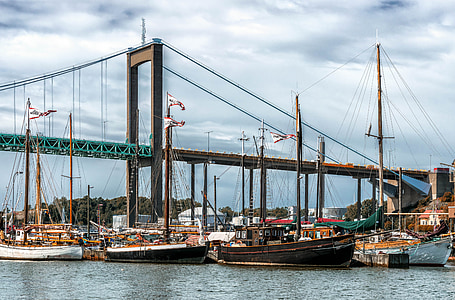 hamn, segelbåt, båt-Master, fartyg, Östersjön, Göteborg, Sverige