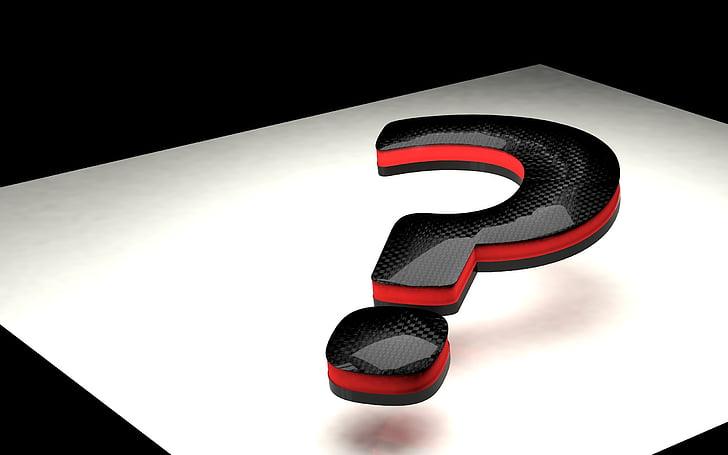 signe d'interrogació, 3D, tipus de lletra, qüestió, símbol, pregunta, trencaclosques
