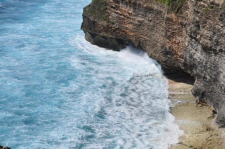 de zee, de golven, Bali, zee, natuur, kustlijn, Cliff