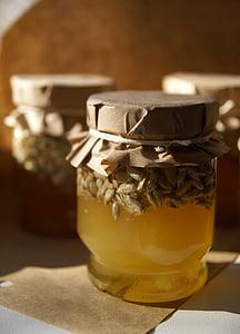 mel, abella, pol·len, flor, jardí, recull nèctar, l'estiu