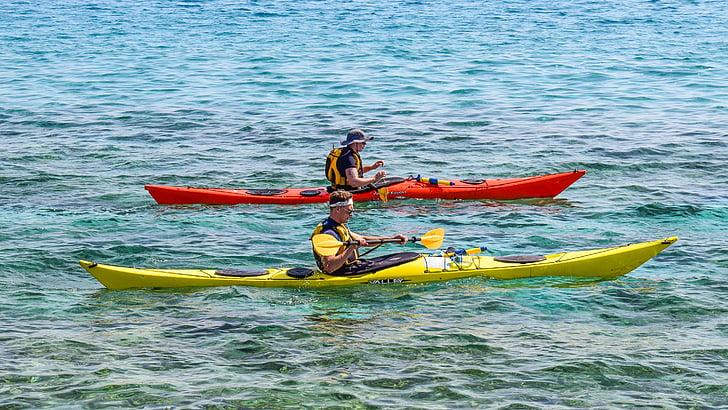 kano kajakk, sport, kajakkpadling, Kanopadling, Sommer, eventyr, aktivitet