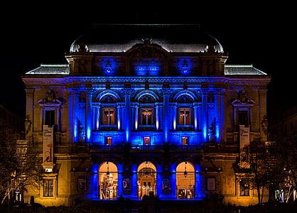 Lyon, gaismas, naktī, teātris