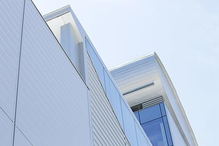 arhitektuur, hoone, väike nurk shot, perspektiivi, kaasaegne, äri, ehitatud struktuur