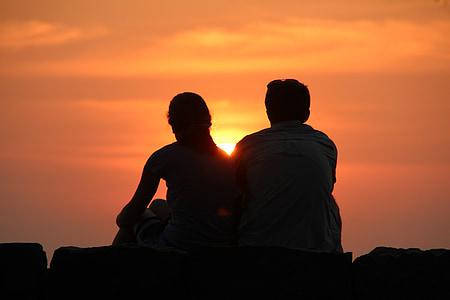 matahari terbenam, siluet, abendstimmung, suasana hati, malam, Pijaran ekor, senja