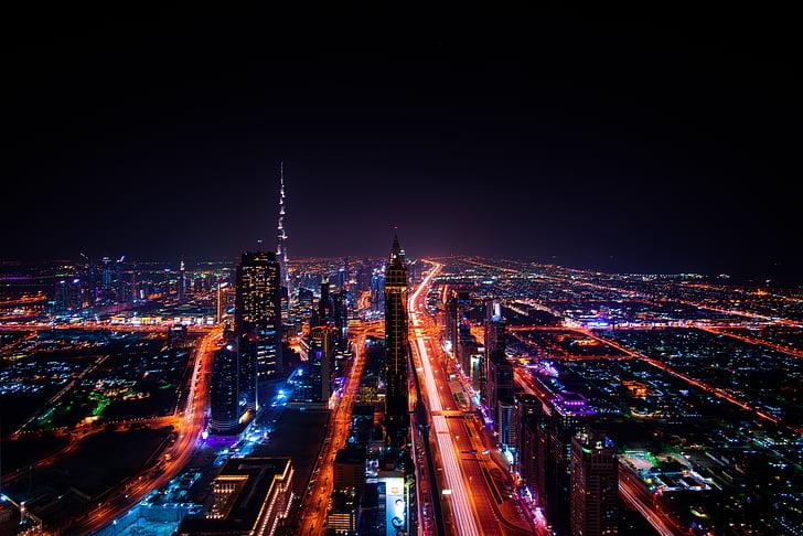 Dubajus, miesto peizažas, Emyratai, kelionės, Architektūra, dangoraižis, miesto