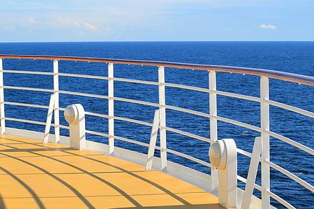 fartyg, solen, vatten, sjön, Frakt, kryssningsfartyg, semester kryssning