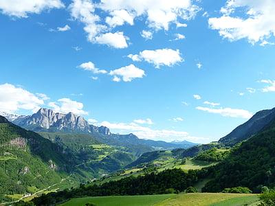 beautiful, holiday, europe, italy, dolomites, alpine, landscape