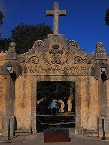 kloster cura, ingång, mål, dörr, Portal, Cross, Cura