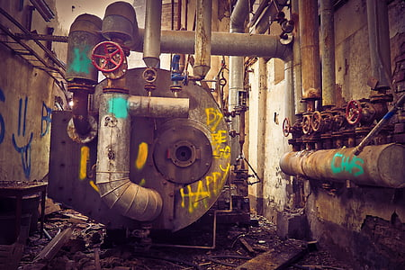 lost places, factory, old, lapsed, building, ruin, leave