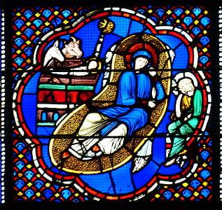 Božić, Dječji krevetić, jaslice, Isus, Marija, vo, magarac