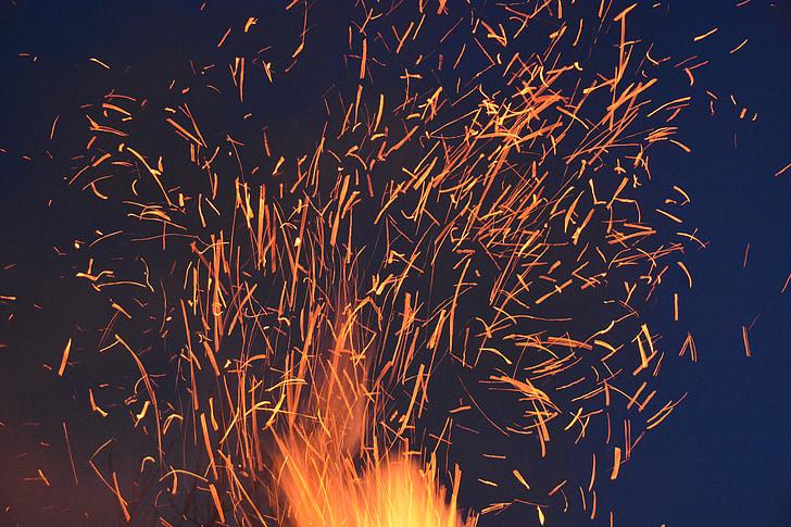 säde, tulekahju, Hõõguvad söed, põletada, puidu tulekahju, Fire - loodusnähtusest, leek