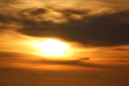 Ήλιος, ηλιοβασίλεμα, θολή σύννεφο, abendstimmung, βραδινό ουρανό, Δύση του ήλιου, Λυκόφως