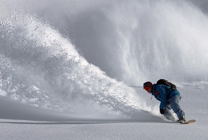 aventura, atleta, allau, accident, perill, fresc, congelat