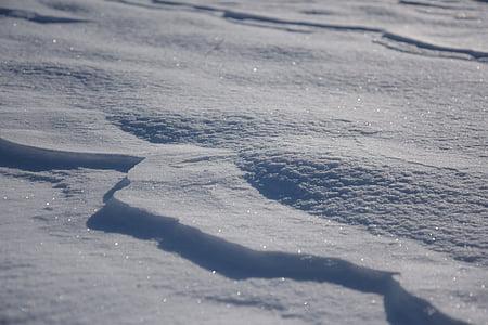sniego, žiemą, šaldymo, Pusnis, ledo, Blizgučiai