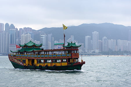 havet, fartyg, staden, resor, Asia, Kina, byggnad