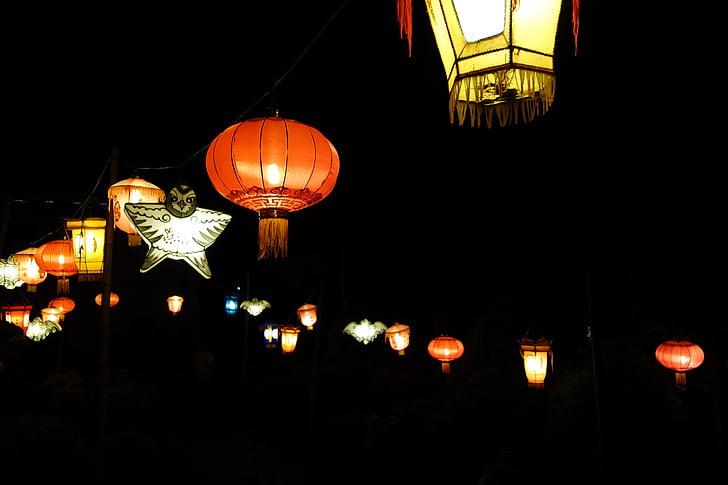 fanalets xinesos, nit, Garlanda