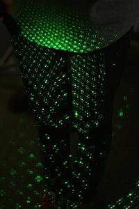 laser, green, legs