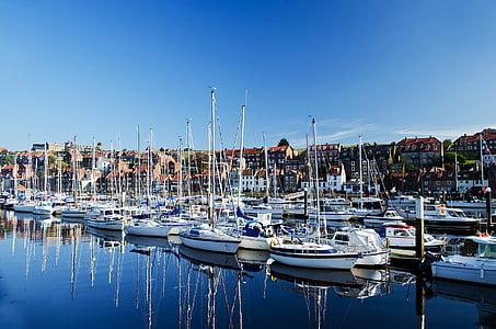 bateaux, station d'accueil, Harbor, port, eau, yachts, bateau nautique