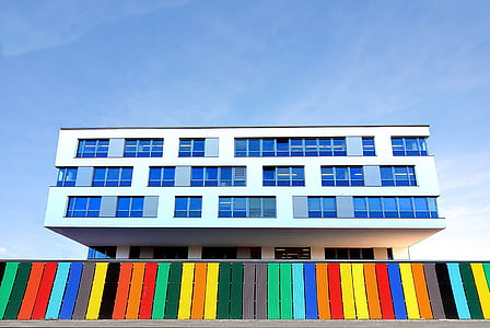 edificio, edificio de oficinas, arquitectura, moderno, fachada, ventana, arquitectura moderna
