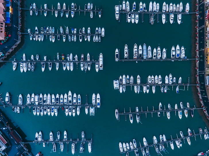 top, view, aerial, boat, water, top view, river