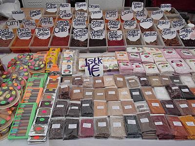 集市上, 市场, 香料, 土耳其, 食品, 东方