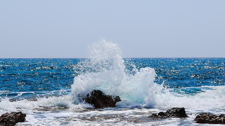 hullám, Lenyûgözõ, tenger, tengerpart, természet, rock, spray