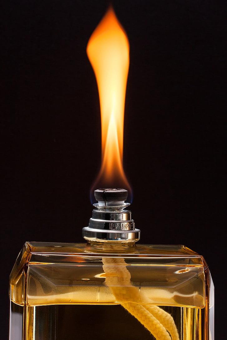 Làmpada, flama, fragància de sala, ampolla de vidre, millora de l'aire, flacon, metxa