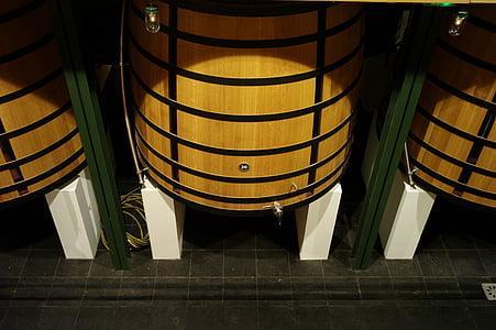 vin, bois, baril, boisson, rouge, en bois, alcool