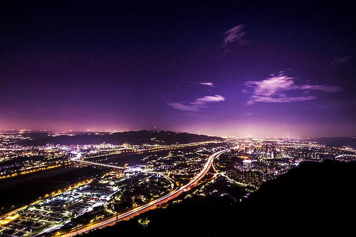 noćni pogled, zmaj brdo, tri klanca, Taipei
