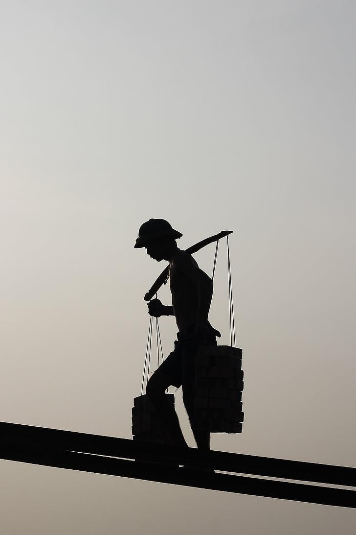 pedres, fons, treball, sol, negre, blanc, posta de sol
