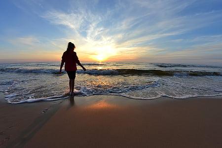 platja, brisa, Costa, horitzó, natura, oceà, sorra