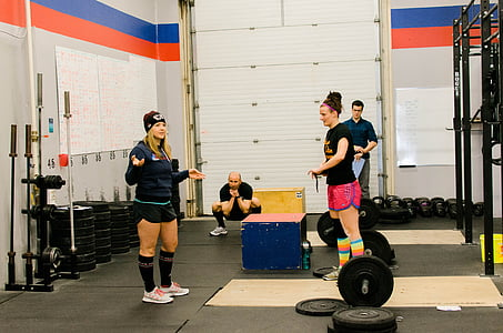trenažieru zāle, fitnesa, apmācības, uzdevums, cilvēki