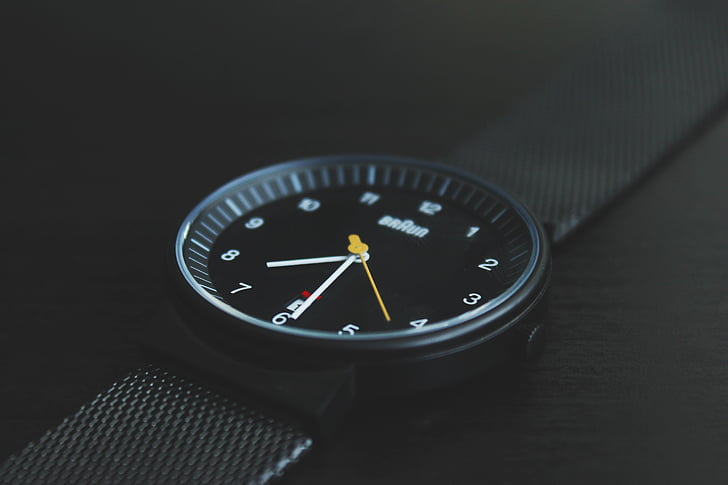 pes de producte, temps, veure, rellotge de polsera
