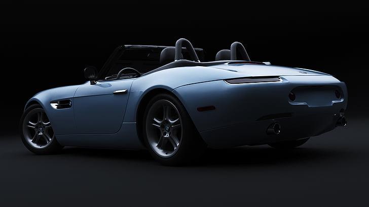 BMW z8, cotxe, representació 3D, l'automòbil, vehicle, transport, automoció